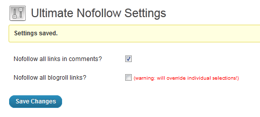 Ultimate Nofollow Screenshot 2
