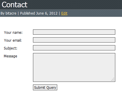 Super Simple Contact Form Screenshot 1