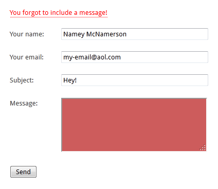 Super Simple Contact Form Screenshot 2