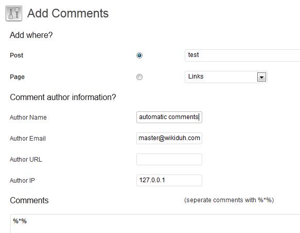 Add Comments Screenshot 1