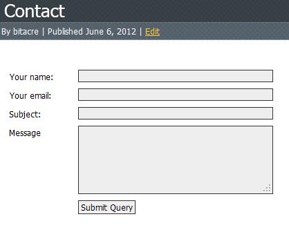 Super Simple Contact Form Screenshot 1